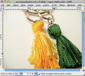 Screenshot of file saved as xcf