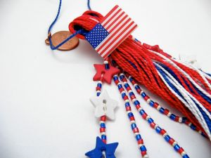 4th of July Tassel with Flag