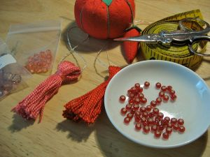 Tassels to bead with tools and beads