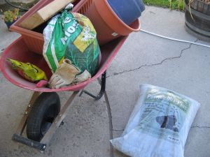 Tools and Supplies for repotting