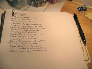 Handwritten Poem Draft