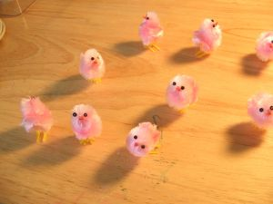 Fake Pink Chickens