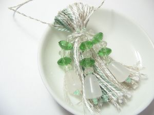 Vintage Glass Beaded Tassel Christmas Ornament