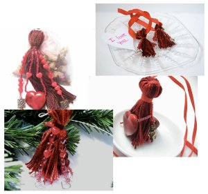 A selection of Valentine's Day tassels from Lizbeth's Garden